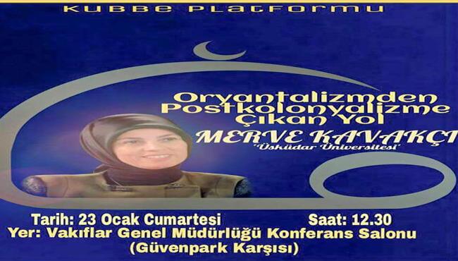 PAMER Başkanı Doç. Dr. Merve Kavakçı, Kubbe Derneği Ankara Konferansında konuştu