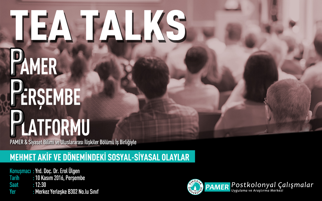 PAMER Tea Talks- 24 Kasım 2016